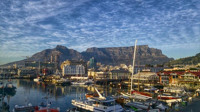 Havnen i Cape Town - også kaldet Waterfront