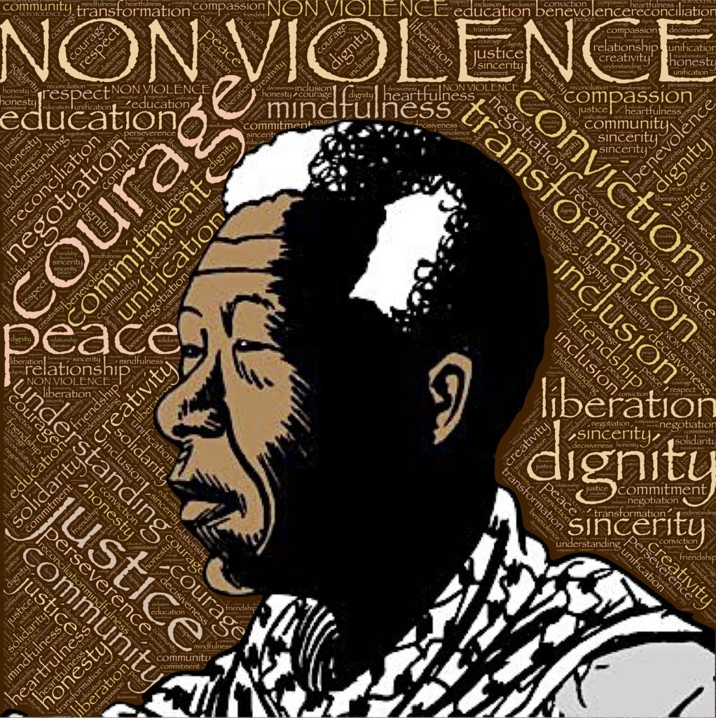 Nelson Mandela - mens han stadig kæmpede fredeligt