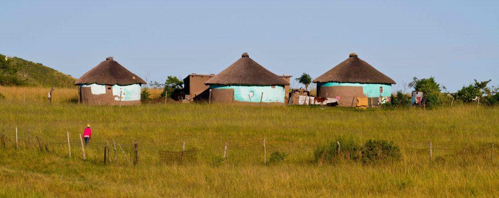 Hytter i Eastern Cape, hvor Mandela voksede op