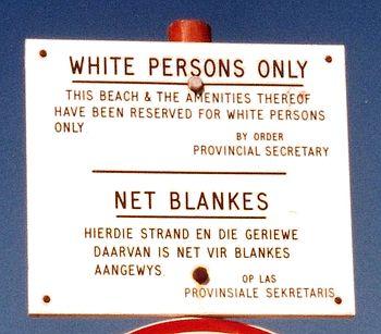 Apartheid - kun hvide på denne strand