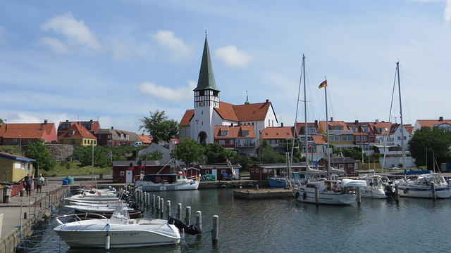 Ankomst til Bornholm via havnen i Rønne